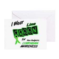I Wear Lime Green For Awareness 8 Greeting Card