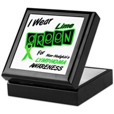 I Wear Lime Green For Awareness 8 Keepsake Box