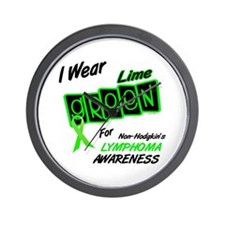 I Wear Lime Green For Awareness 8 Wall Clock