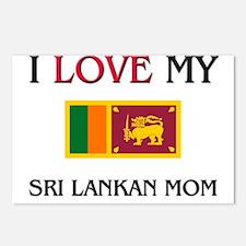I Love My Sri Lankan Mom Postcards (Package of 8)