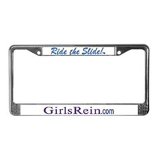 Ride the Slide GR print License Plate Frame