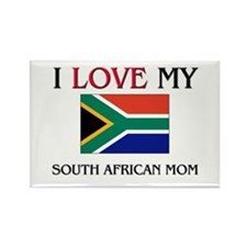 I Love My South African Mom Rectangle Magnet