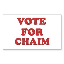 Vote for CHAIM Rectangle Decal