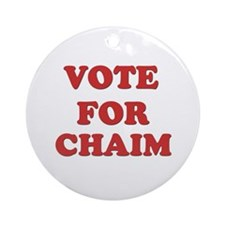 Vote for CHAIM Ornament (Round)