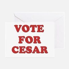 Vote for CESAR Greeting Card