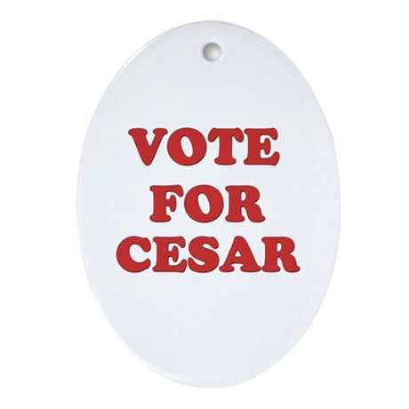 Vote for CESAR Oval Ornament