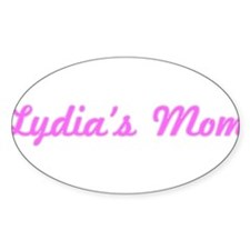 Lydia Mom (pink) Oval Decal