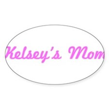 Kelsey Mom (pink) Oval Decal