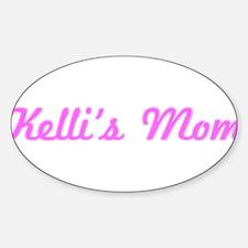 Kelli Mom (pink) Oval Decal