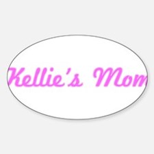 Kellie Mom (pink) Oval Decal