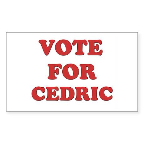 Vote for CEDRIC Rectangle Sticker