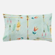 BOHO Bohemian Arrows Feathers Leaf Swi Pillow Case