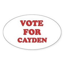 Vote for CAYDEN Oval Decal