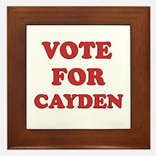 Vote for CAYDEN Framed Tile