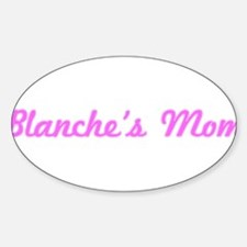 Blanche Mom (pink) Oval Decal