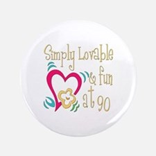 """Lovable 90th 3.5"""" Button"""