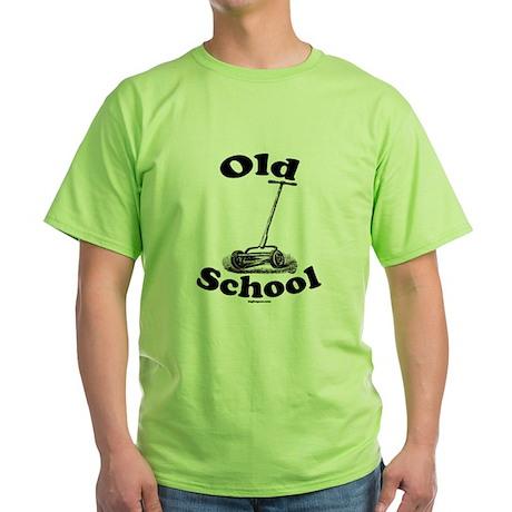 Push Mower (Old School) Green T-Shirt