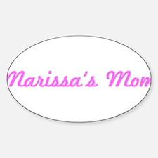 Marissa Mom (pink) Oval Decal