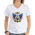 Naval Anchor Tattoo Women's V-Neck T-Shirt