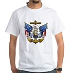 Naval Anchor Tattoo White T-Shirt