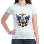 Naval Anchor Tattoo Jr. Ringer T-Shirt