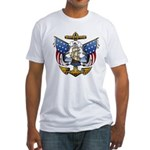 Naval Anchor Tattoo Fitted T-Shirt
