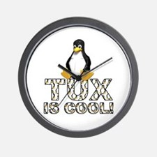 Tux Is Cool! Wall Clock