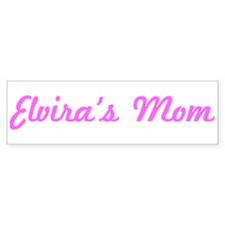 Elvira Mom (pink) Bumper Bumper Sticker