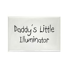 Daddy's Little Illuminator Rectangle Magnet