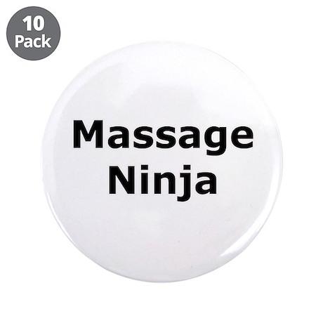 "Massage Ninja 3.5"" Button (10 pack)"