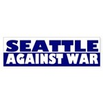 Seattle Against War (bumper sticker)