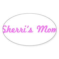 Sherri Mom (pink) Oval Decal