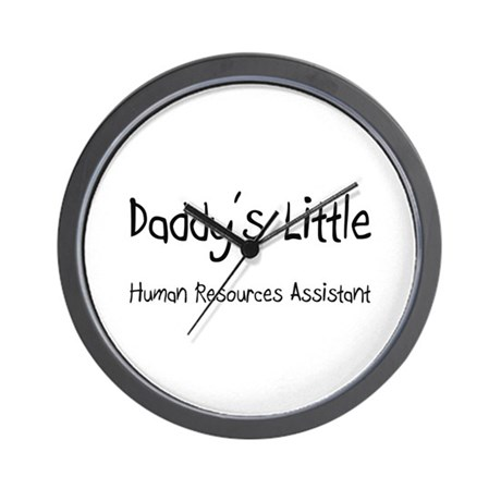 Daddy's Little Human Resources Assistant Wall Cloc
