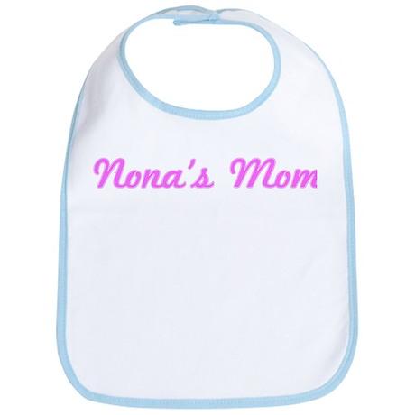 Nona Mom (pink) Bib