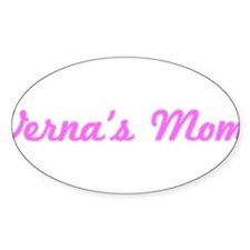 Verna Mom (pink) Oval Decal