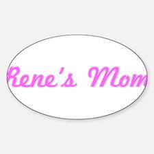 Rene Mom (pink) Oval Decal