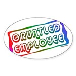 Gruntled/Happy Employee Oval Sticker
