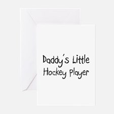 Daddy's Little Hockey Player Greeting Cards (Pk of