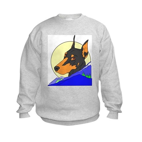 Doberman (Front & back) Kids Sweatshirt