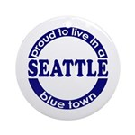 Seattle: Blue Town Holiday Ornament