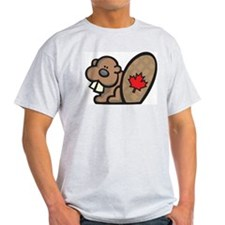 Canada + Beaver Ash Grey T-Shirt