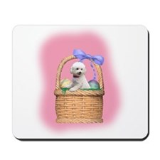 bichon easter basket Mousepad