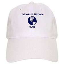 CLARE - Worlds Best Mom Baseball Cap