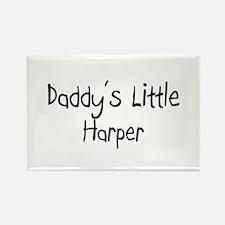 Daddy's Little Harper Rectangle Magnet
