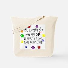 Love cat, child Tote Bag