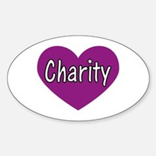 Charity Oval Decal