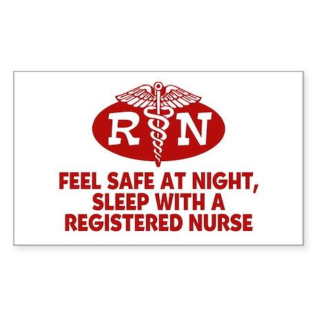 Feel Safe at Night Sleep with a Nurse Sticker (Rec