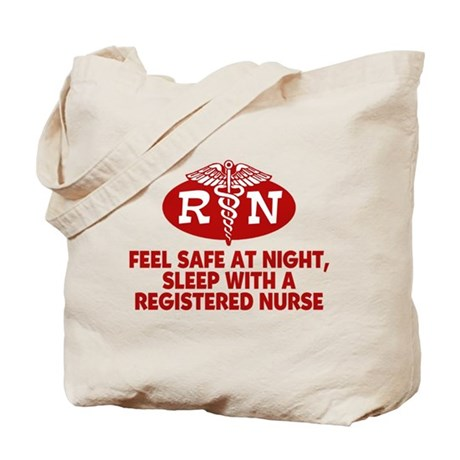 Feel Safe at Night Sleep with a Nurse Tote Bag