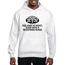 Feel Safe at Night Sleep with a Nurse Hoodie Sweatshirt