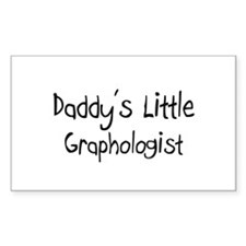 Daddy's Little Graphologist Rectangle Decal
